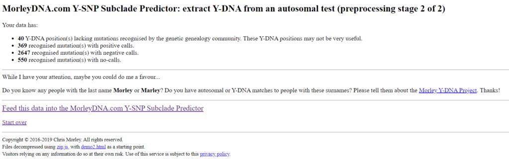 """Εικ. 3: 23andMe v5 – Αριθμός των θετικών/αρνητικών SNPs και των """"no-calls""""."""